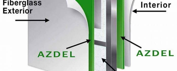 Which travel trailers use Azdel
