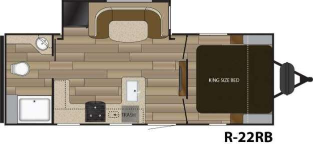 Cruiser RV Radiance with king bed
