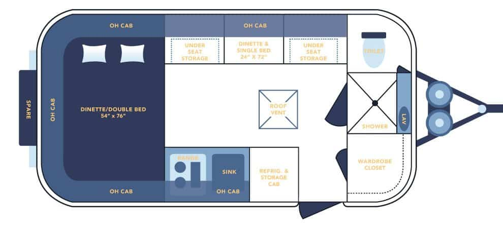 Casita 17' spirit 2020 floor plan