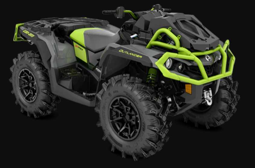 The Can-Am Outlander X MR 1000R is very capable in muddy areas