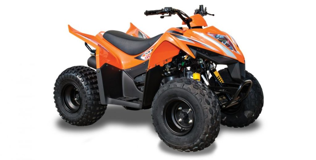 The KYMCO Mongoose 90S is a fully automatic ATV