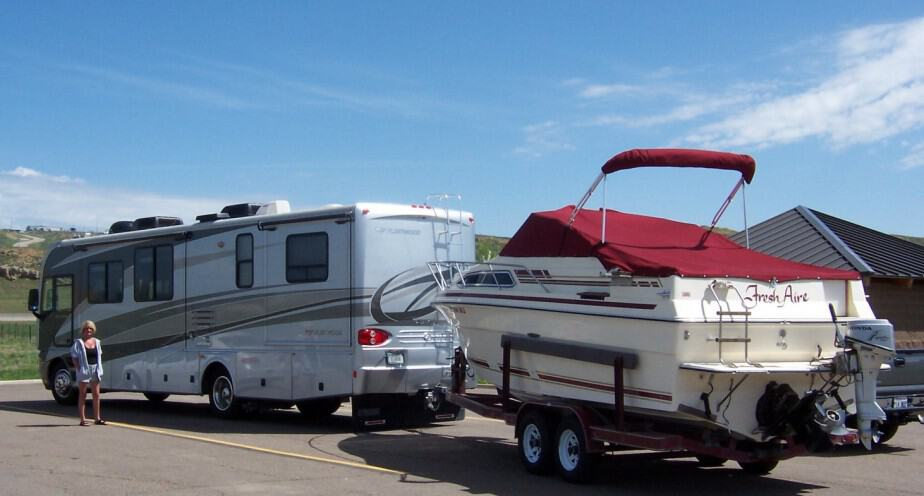 Can An RV Tow A Boat?