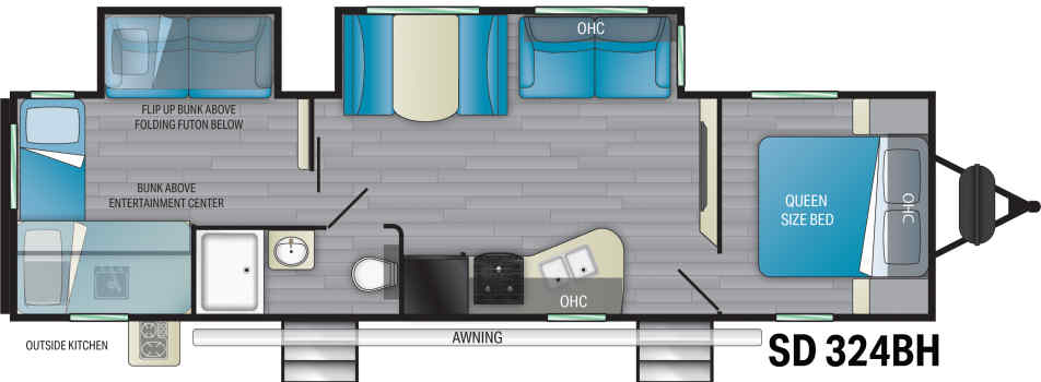 double entry travel trailer